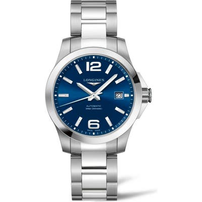 Longines Conquest Automatic Bracelet Watch,