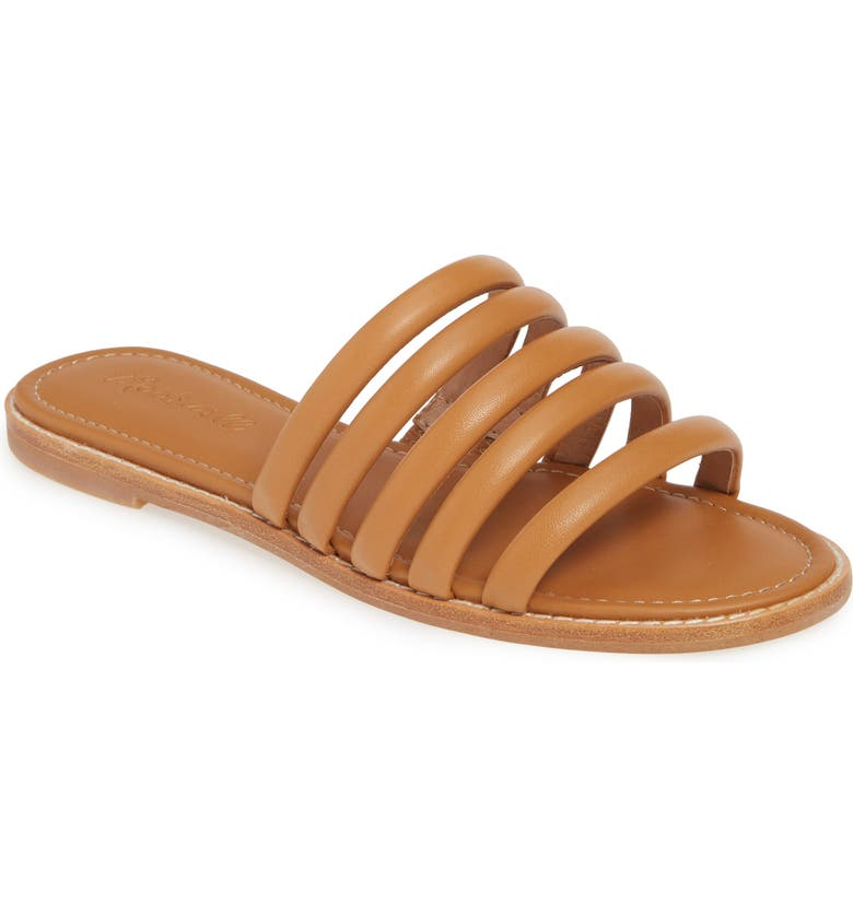 MADEWELL The Addie Slide Sandal, Main, color, DESERT CAMEL