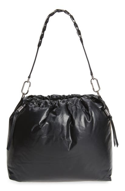 ISABEL MARANT BAGGARA LEATHER SHOULDER BAG