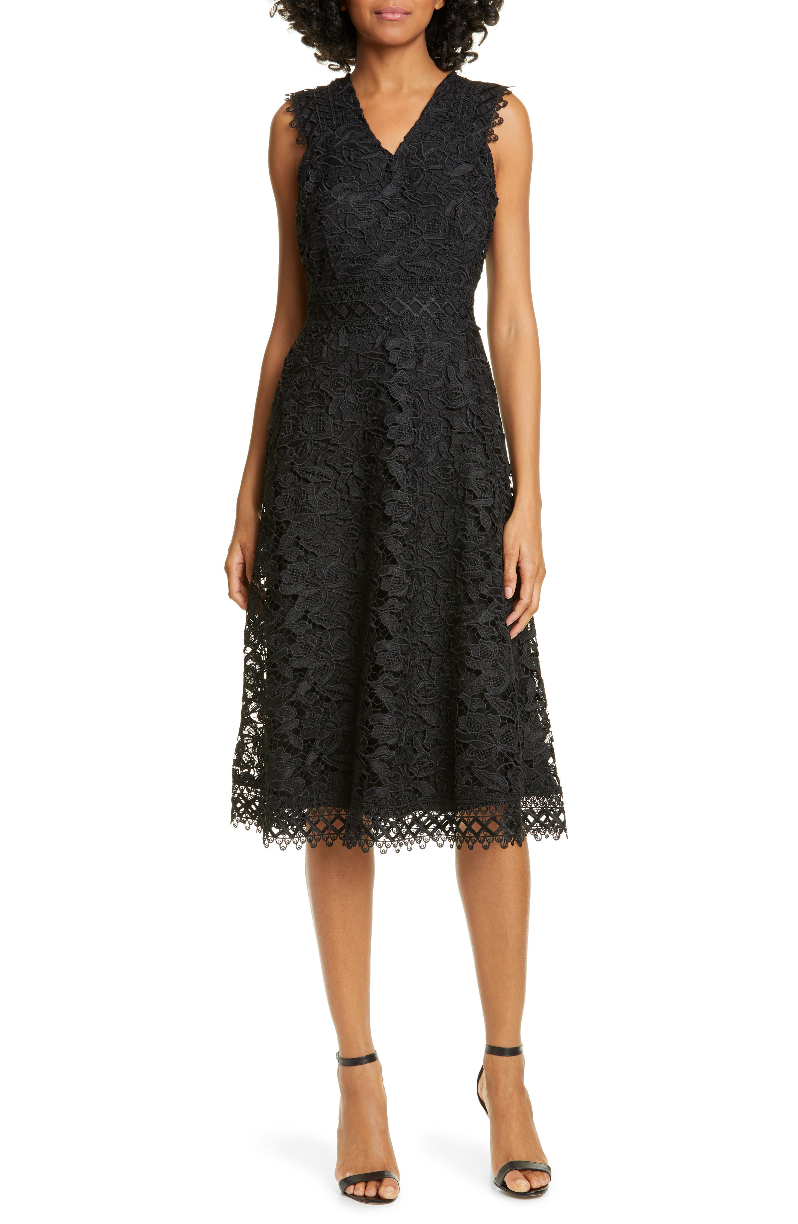 Ted Baker London Questy Sleeveless Lace Dress, Black