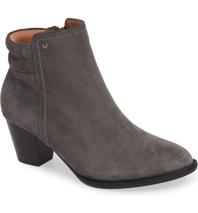 VIONIC Jessie Weather Resistant Bootie, Main, color, CHARCOAL SUEDE