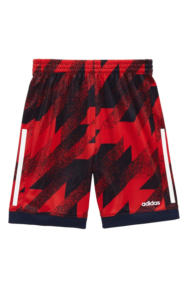 ADIDAS Universal Clashes Shorts, Main, color, SCARLET RED