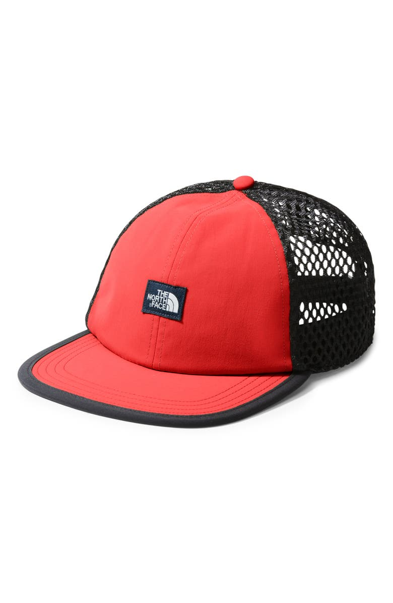 THE NORTH FACE Class V Trucker Hat, Main, color, FIERY RED