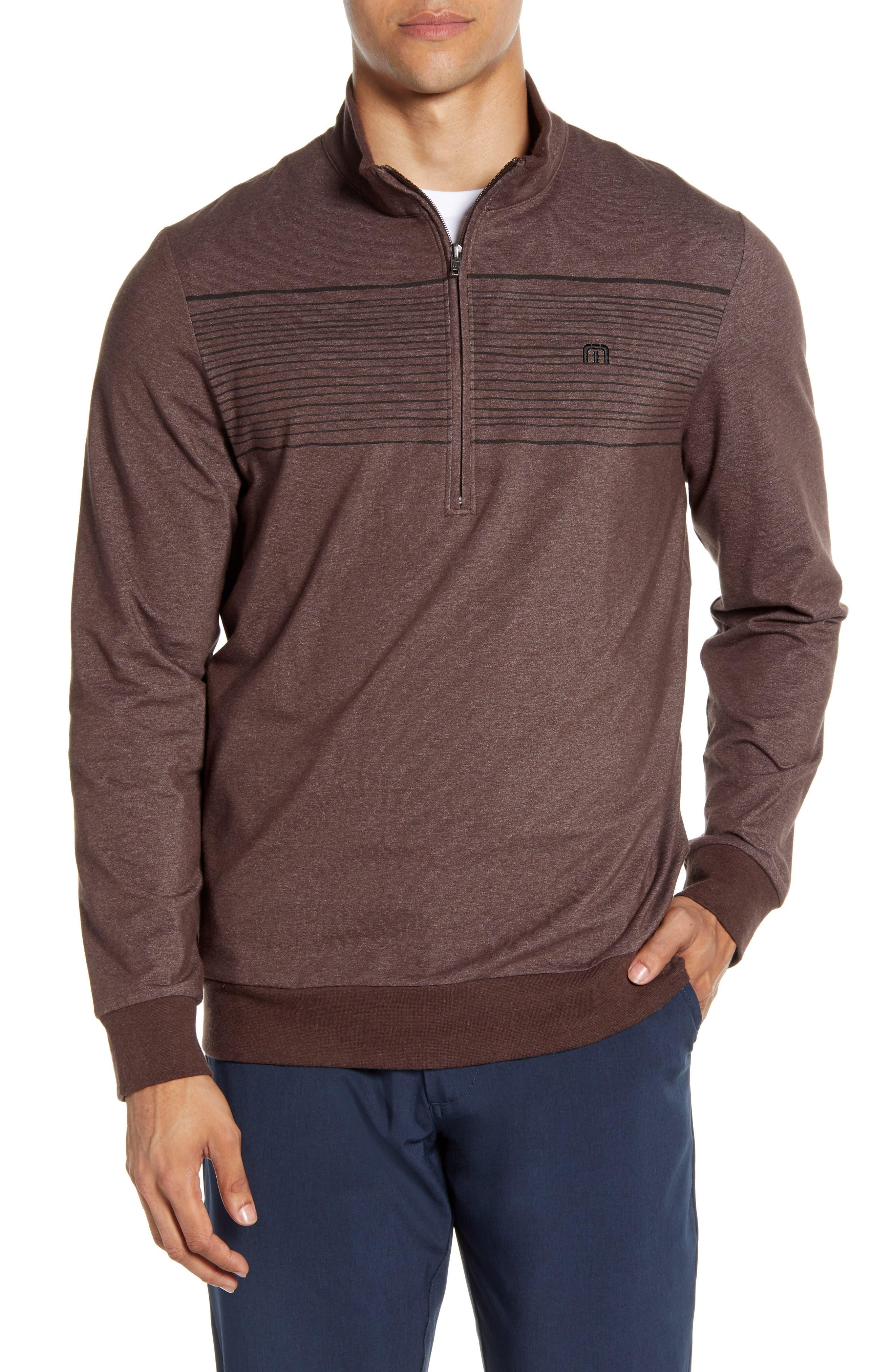 Image of TRAVIS MATHEW Smoke Signals Half Zip Sweatshirt