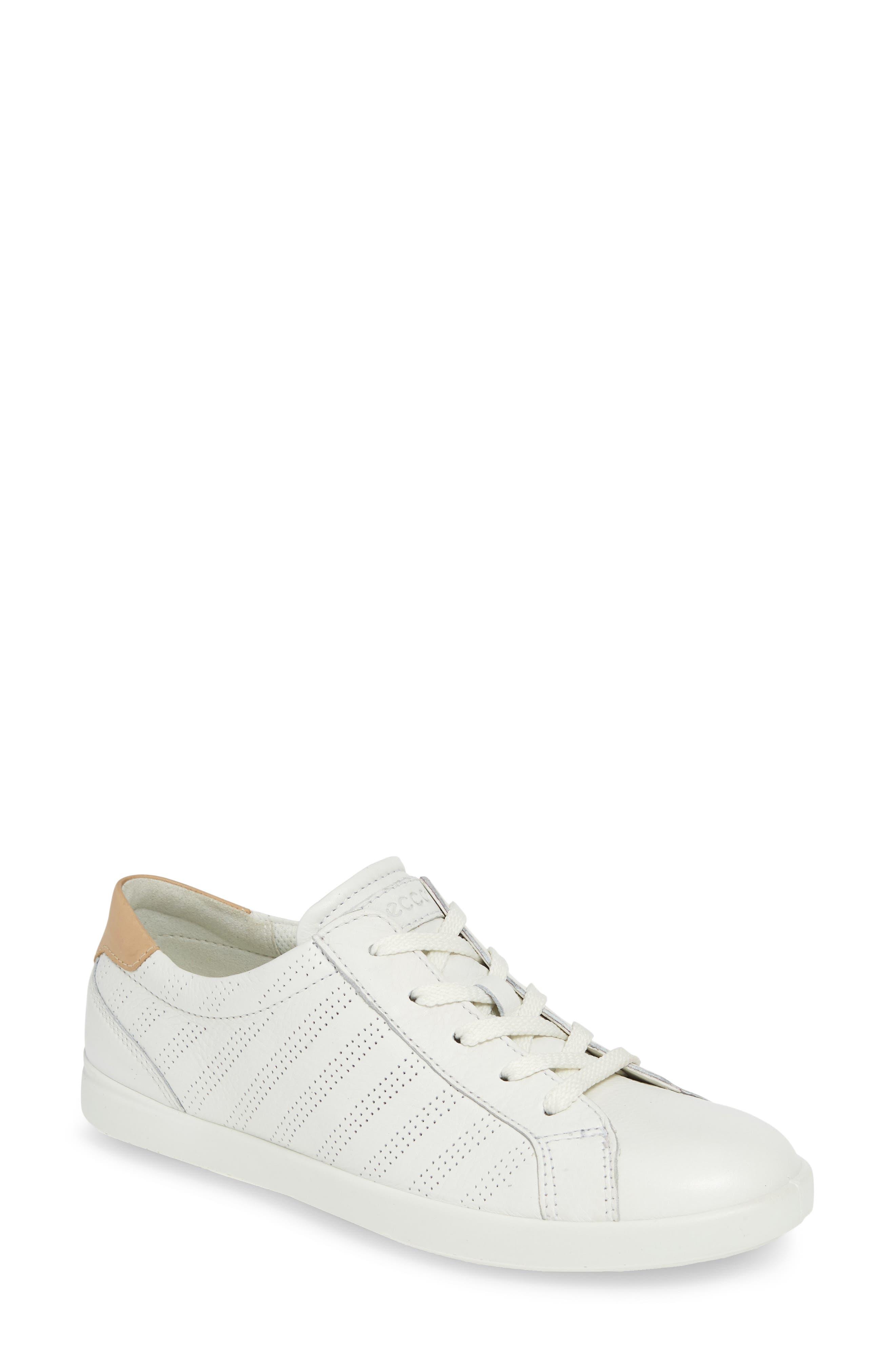 Ecco Leisure Tie Sneaker, White