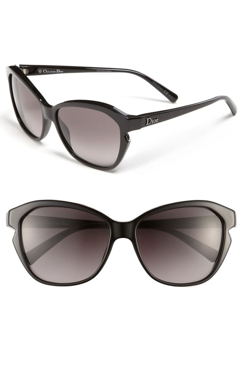 DIOR 'Simply Dior' 58mm Cat's Eye Sunglasses, Main, color, 001