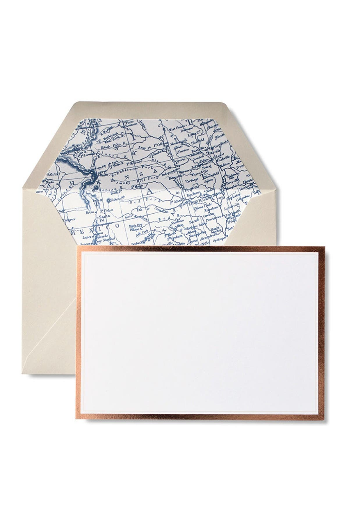 Image of GARTNER STUDIOS Foil Border Notecards - 72-Count