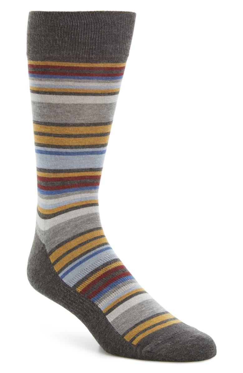 NORDSTROM MEN'S SHOP Stripe Socks, Main, color, 050