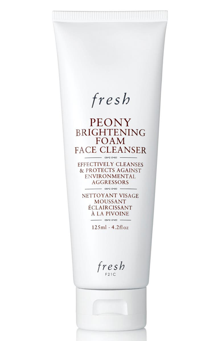 FRESH<SUP>®</SUP> Peony Brightening Foam Face Cleanser, Main, color, NO COLOR