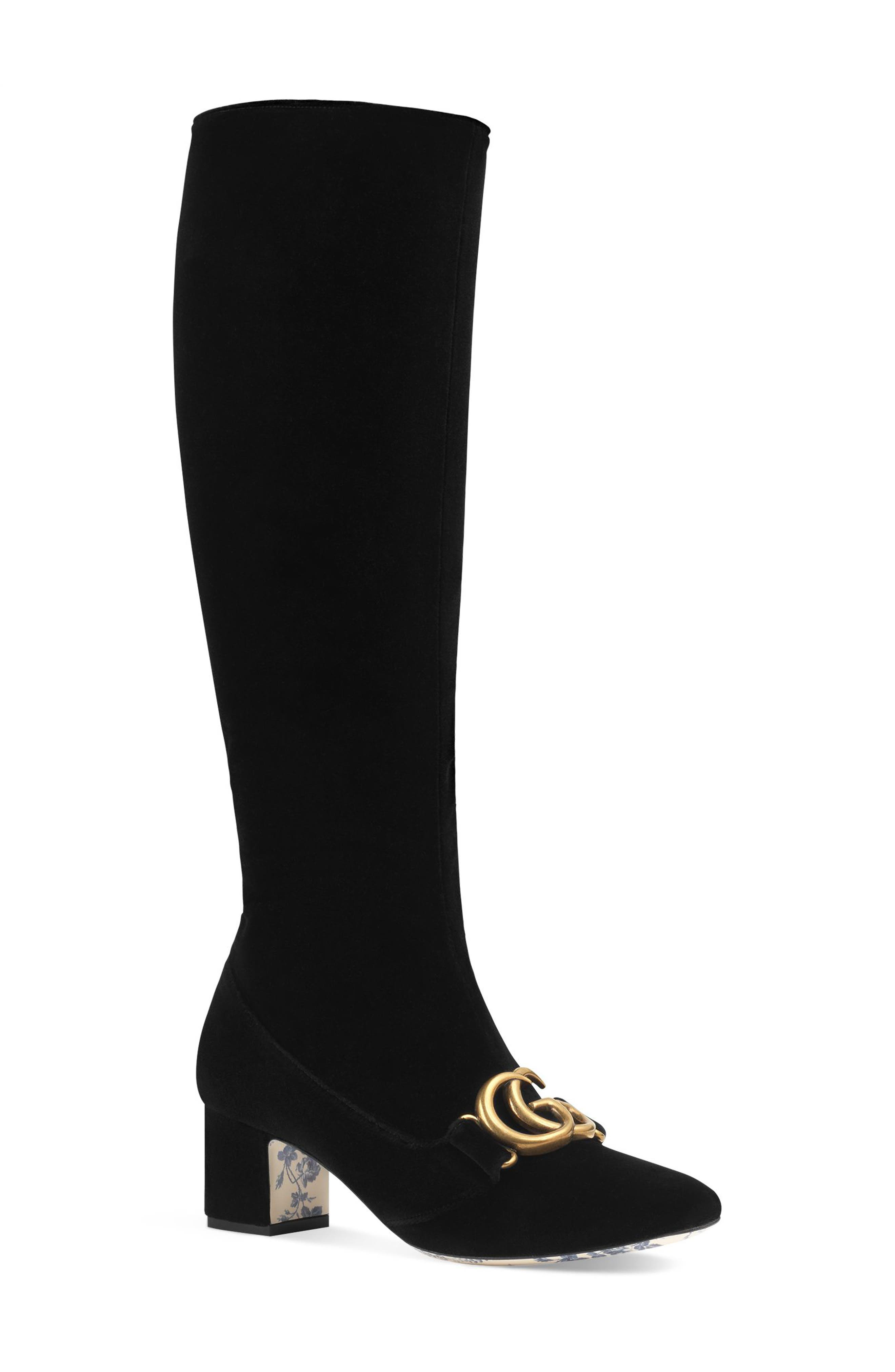 Gucci Victoire Marmont Boot, Black