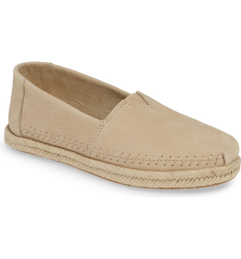 TOMS Alpargata Slip-On, Main, color, STONE BROWN NUBUCK