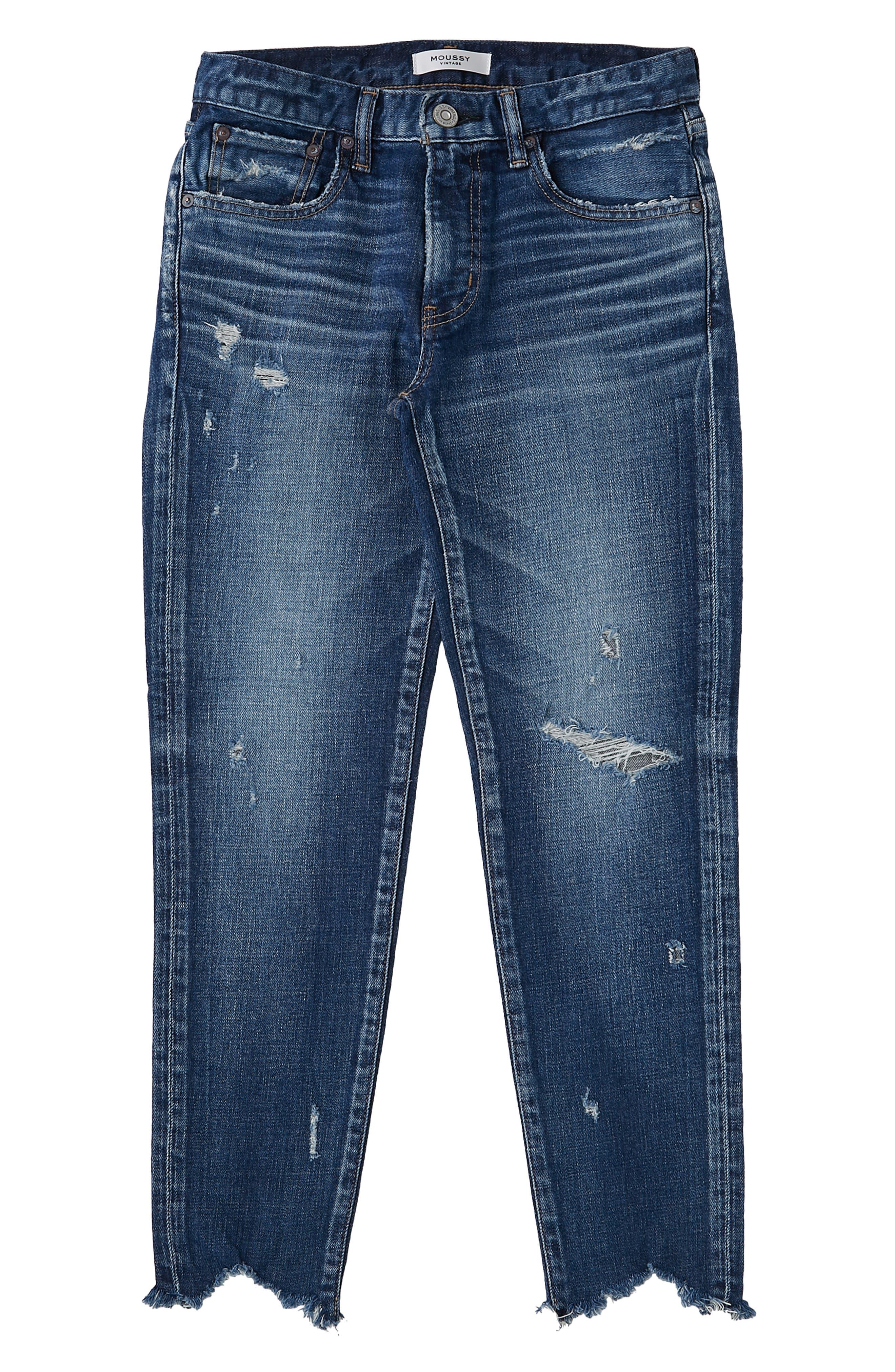Glendele Ripped Crop Skinny Jeans