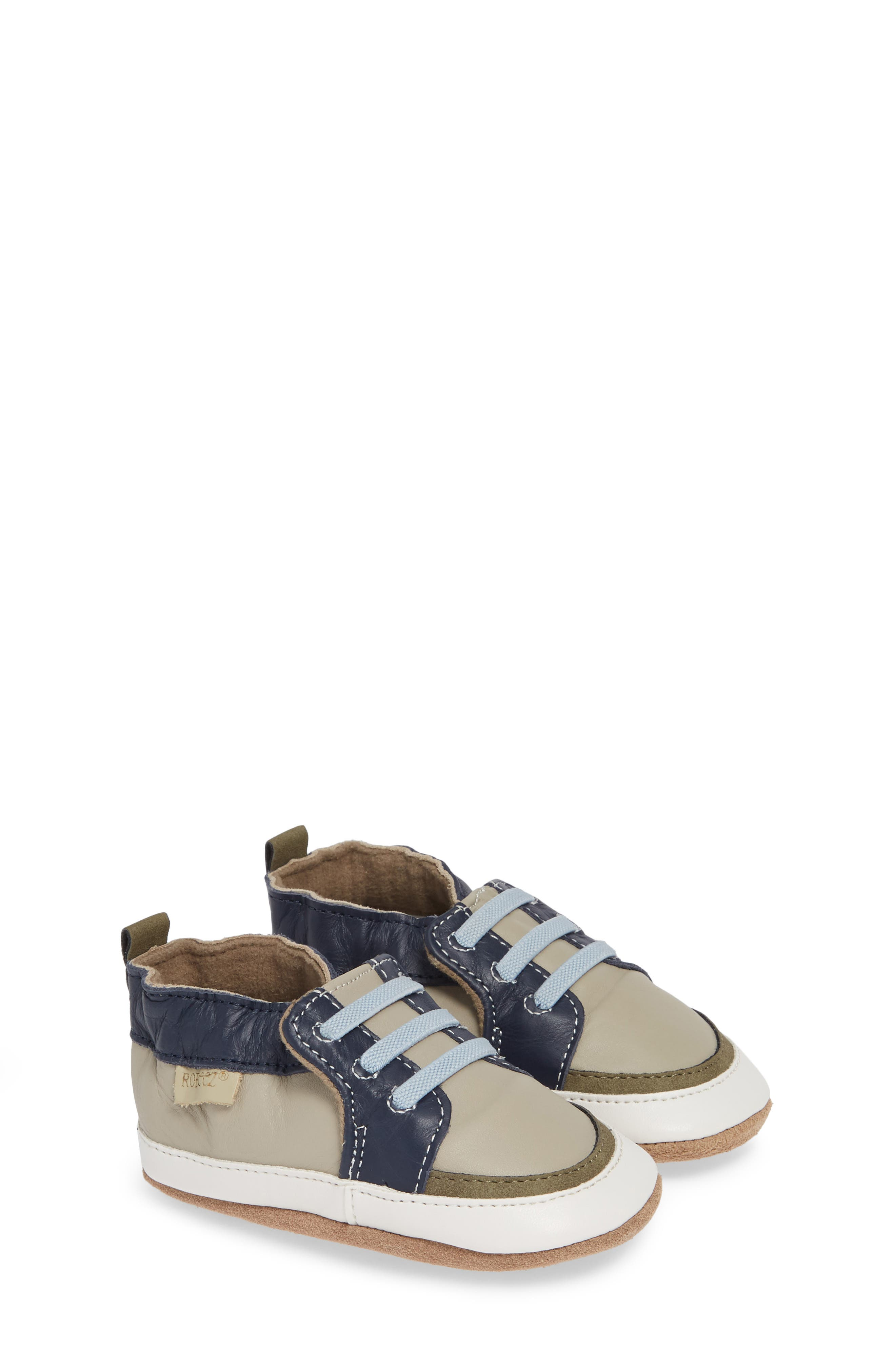 Arthur Trendy Trainer Crib Shoe, Main, color, GREY