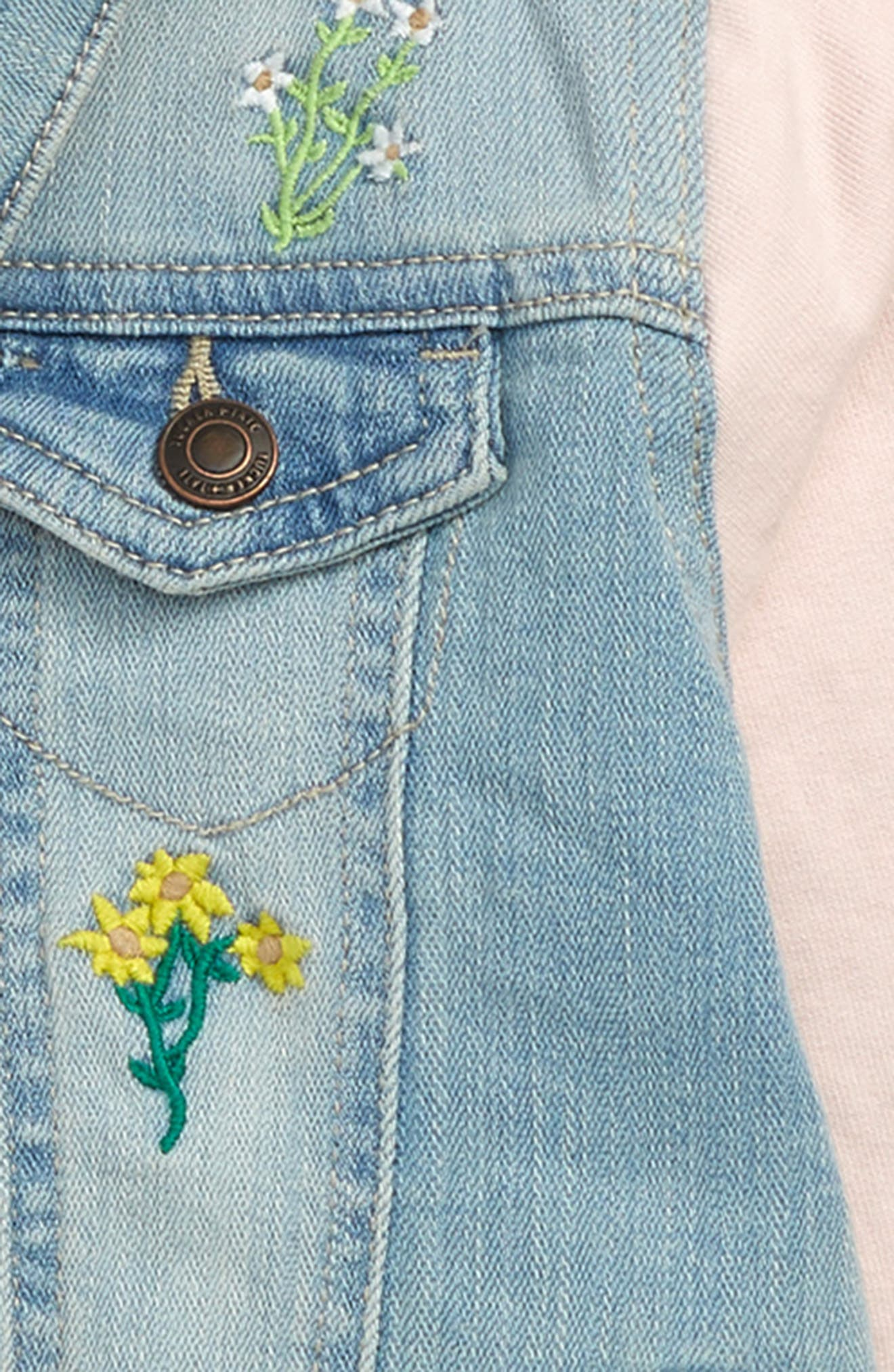 ,                             Embroidered Denim Jacket,                             Alternate thumbnail 2, color,                             LILY WASH