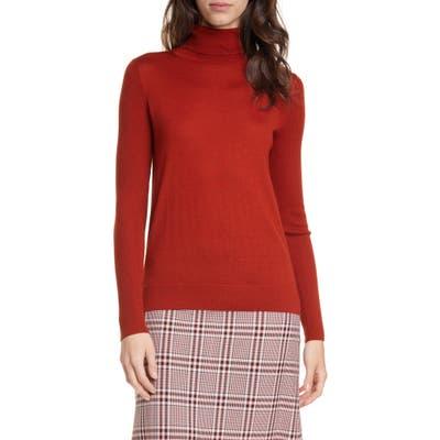 Hugo Sedenn Turtleneck Merino Wool Sweater, Brown