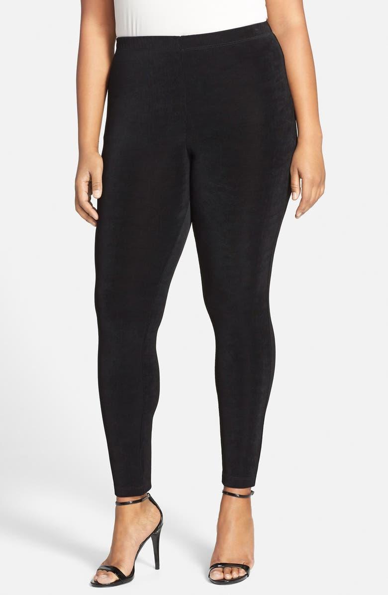 VIKKI VI High Rise Stretch Knit Slim Pants, Main, color, 012