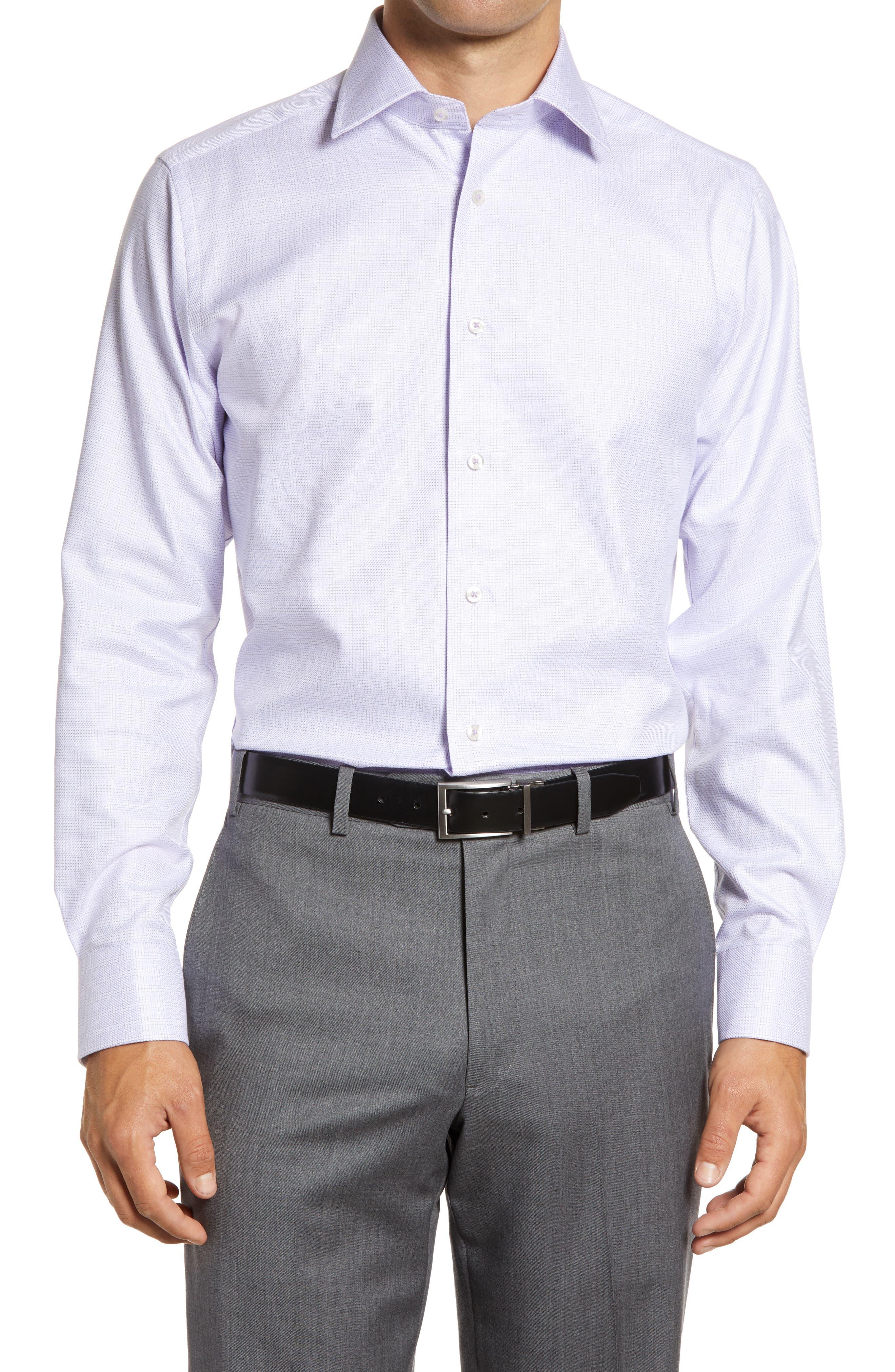 Trim Fit Plaid Dress Shirt