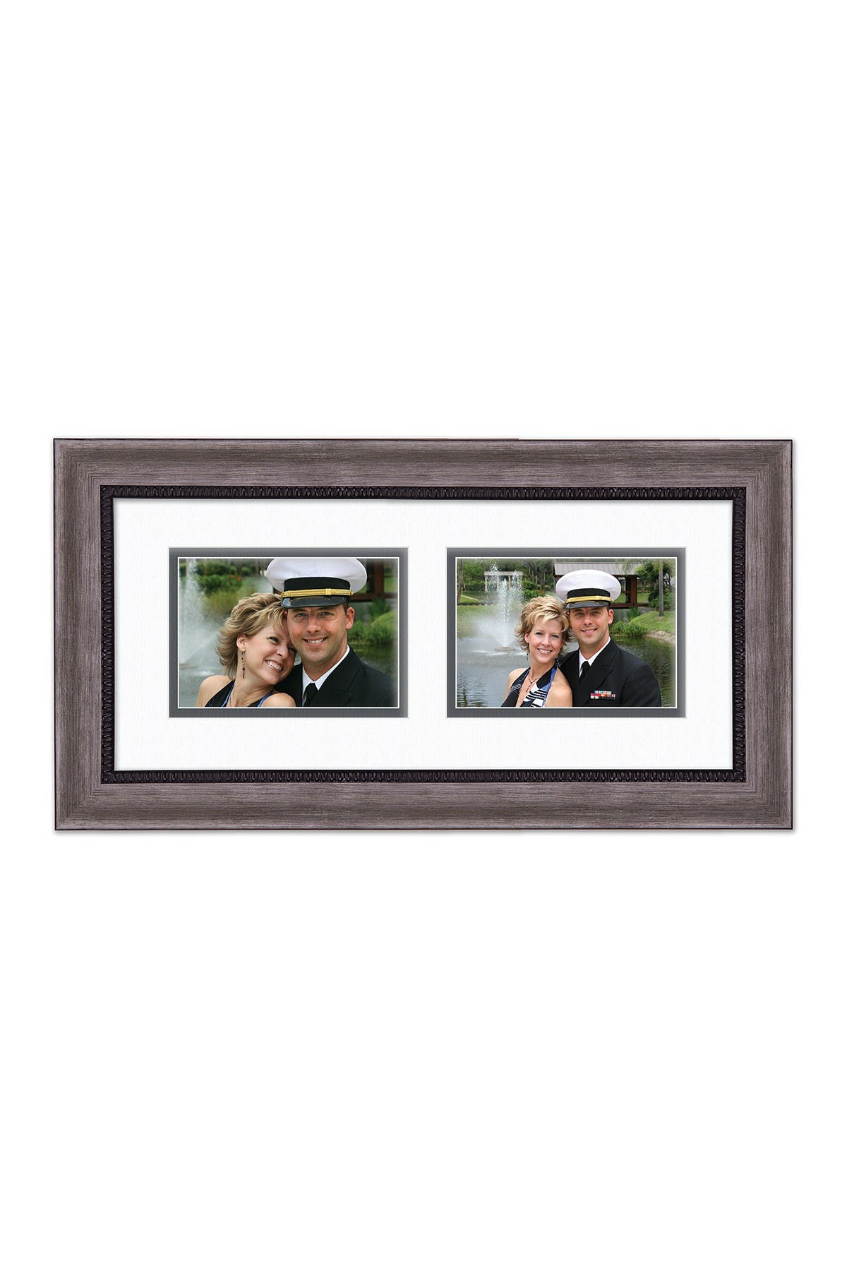 COURTSIDE MARKET Carbon Collection Carbon Gray/Black 8x18 2-5x7 Openings Collage Frame at Nordstrom Rack