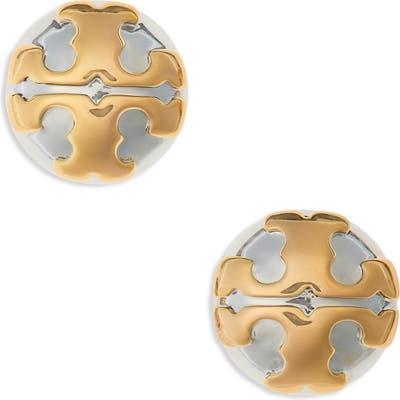 Tory Burch Stacked-T Logo Earrings