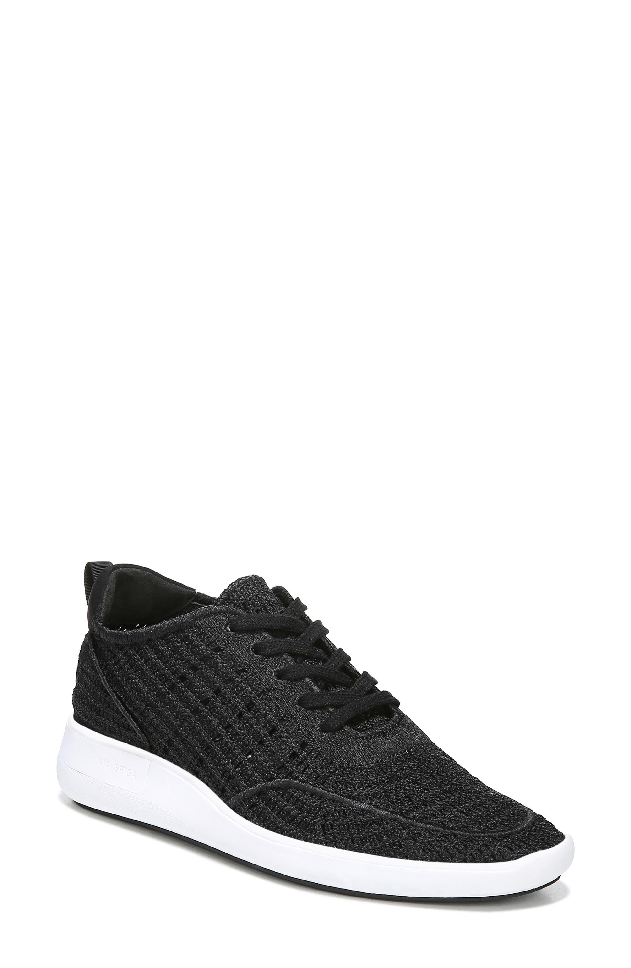 Via Spiga Macra Woven Sneaker, Black