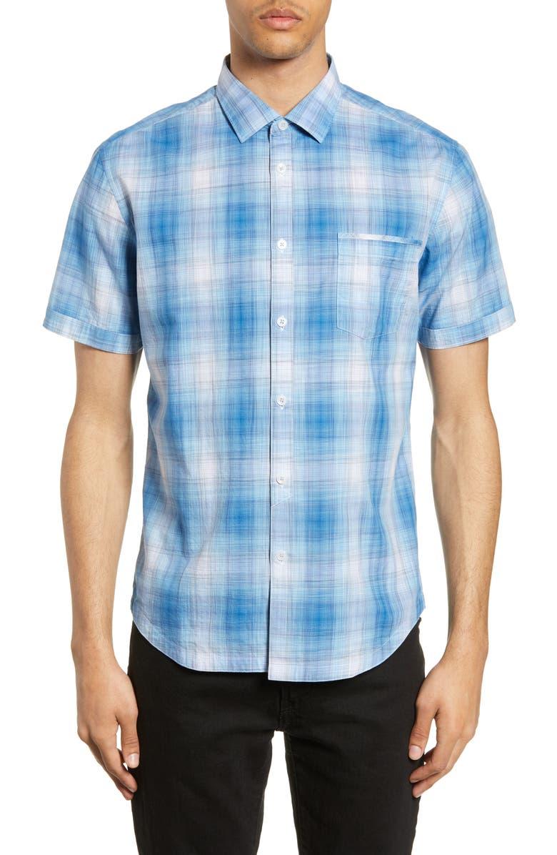 GOOD MAN BRAND Slim Fit Bowery Plaid Shirt, Main, color, SKY BLUE