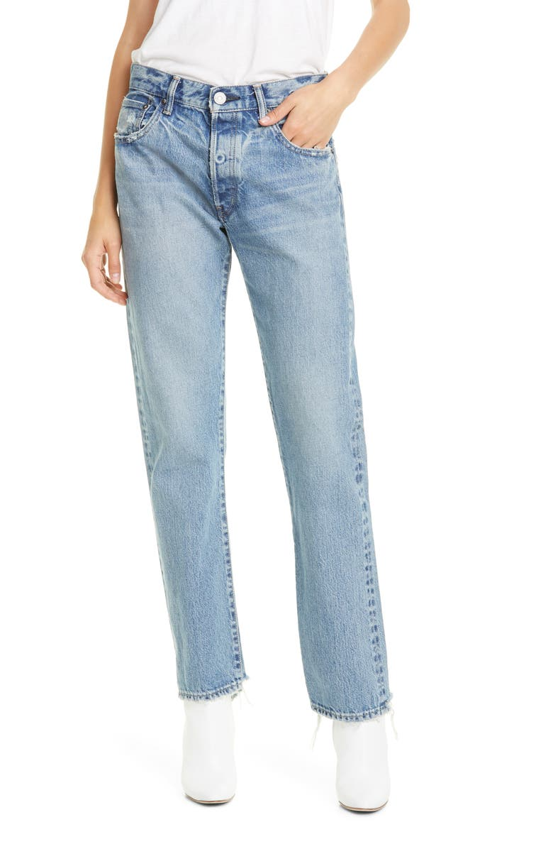 MOUSSY VINTAGE Norwalk Straight Leg Jeans, Main, color, LIGHT BLUE