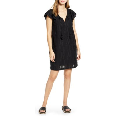 Vineyard Vines Palm Embroidered Tunic Dress, Black