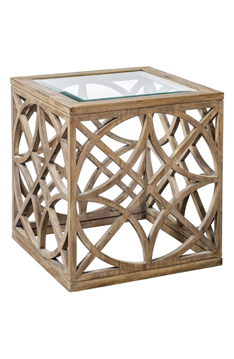 UTTERMOST Janeva Accent Table, Main, color, WOODTONE