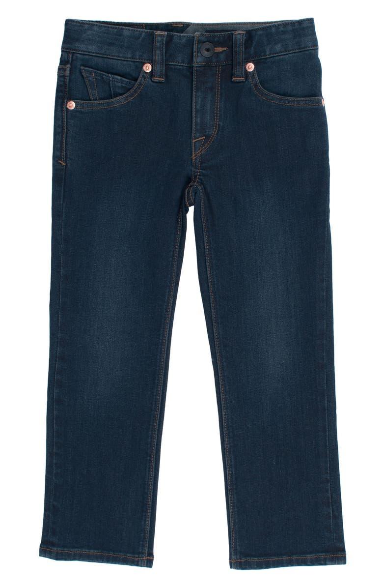 VOLCOM Vorta Slim Fit Jeans, Main, color, BLUE RINSER