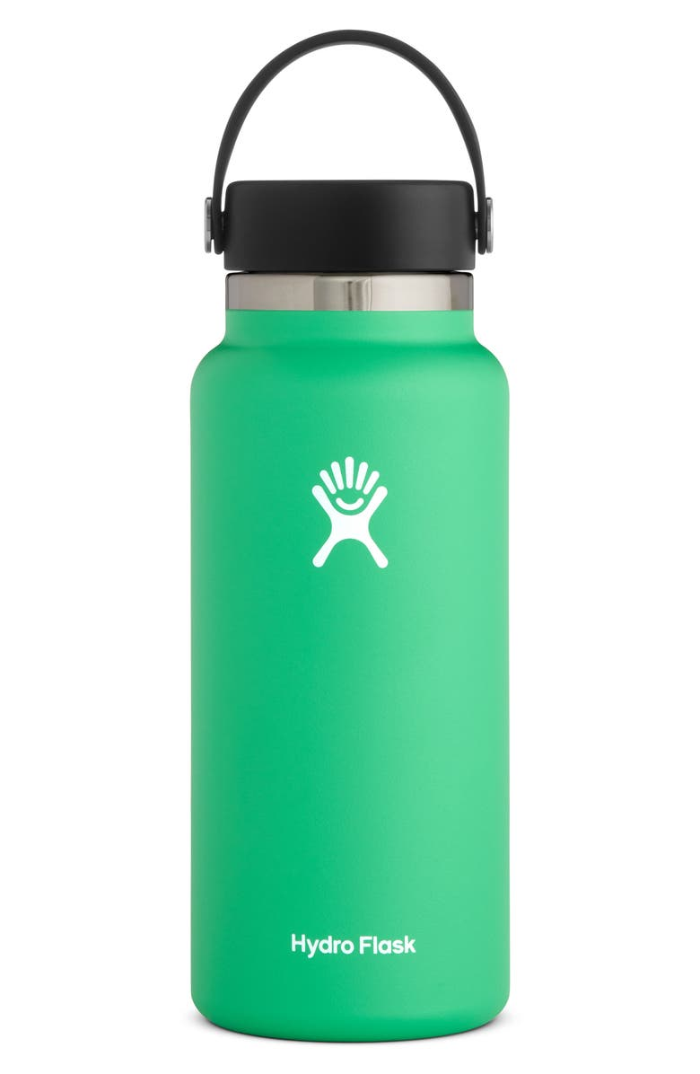 HYDRO FLASK 32-Ounce Wide Mouth Cap Bottle, Main, color, SPEARMINT