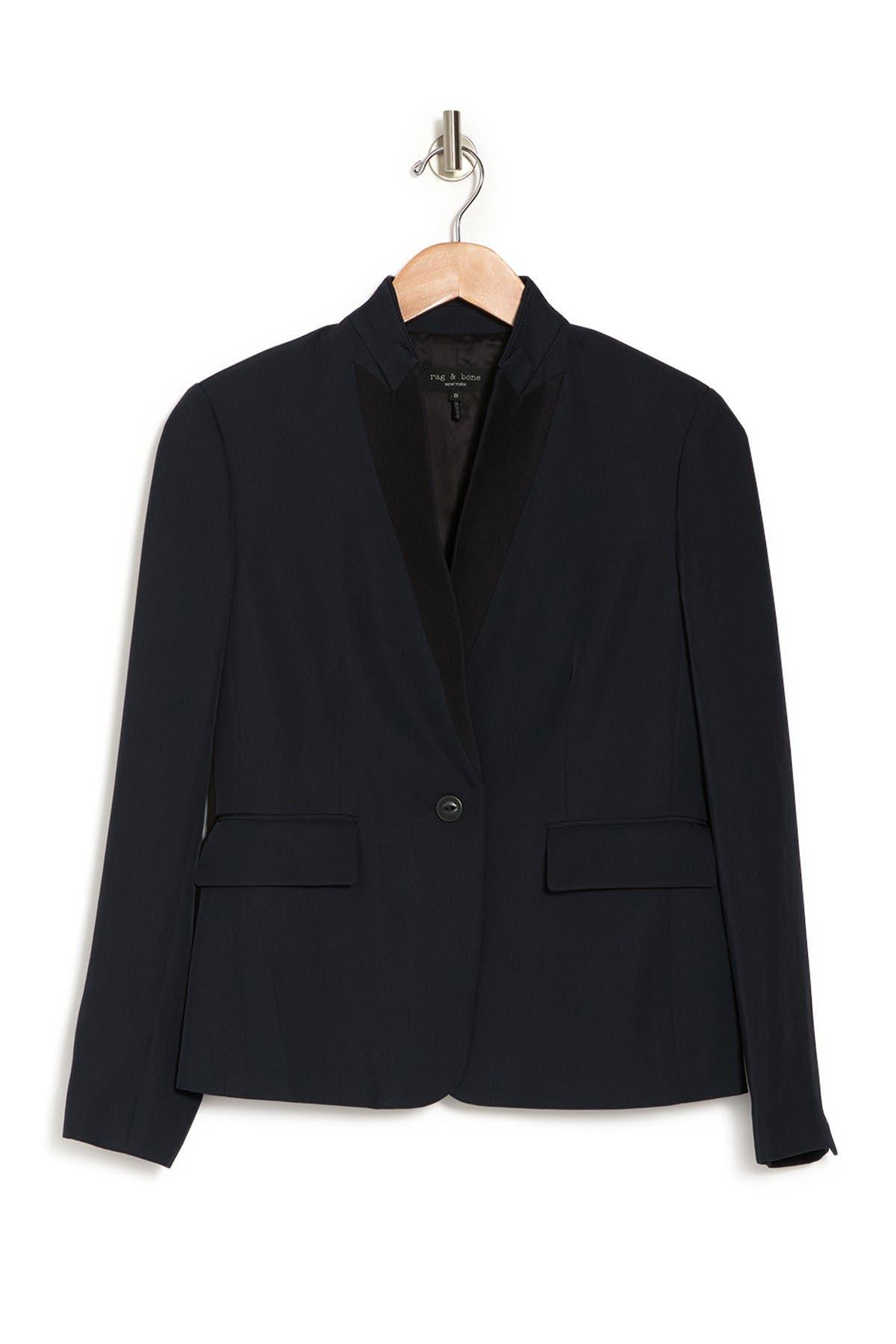 Image of Rag & Bone Archer One Button Wool Blend Blazer