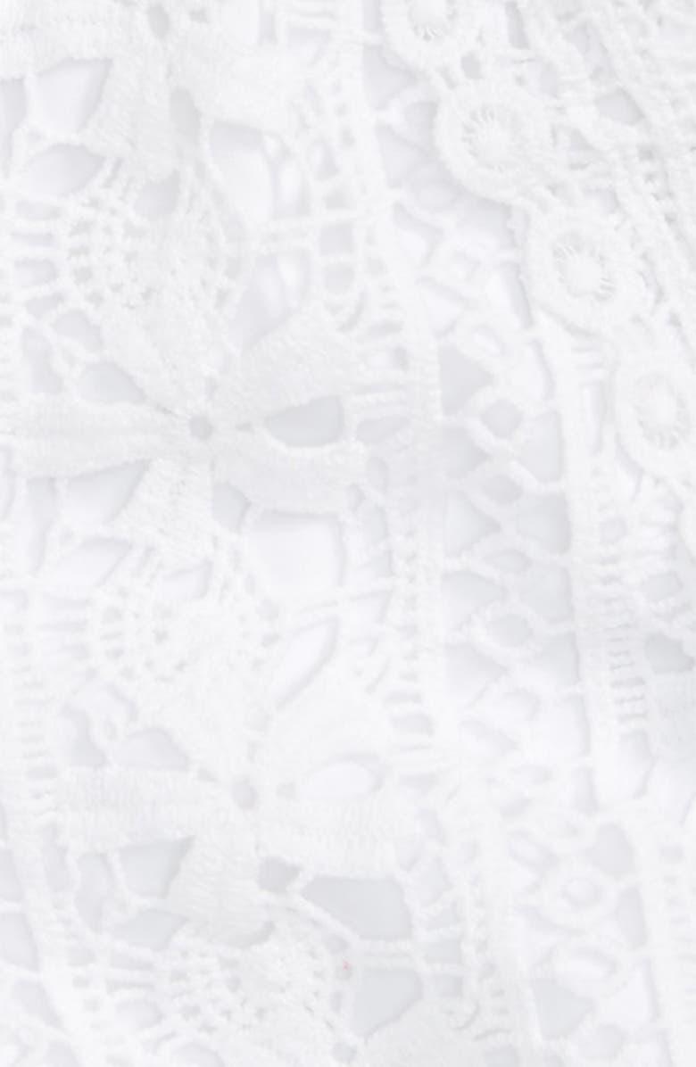 BEBE Crochet Lace Shorts, Main, color, 100