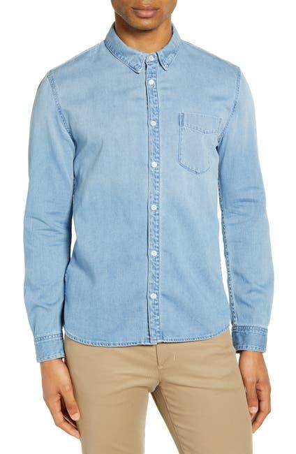 Image of BALDWIN Diego Slim Fit Button-Up Denim Shirt