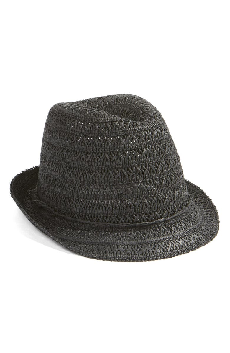 CASLON<SUP>®</SUP> Open Weave Straw Fedora, Main, color, 001