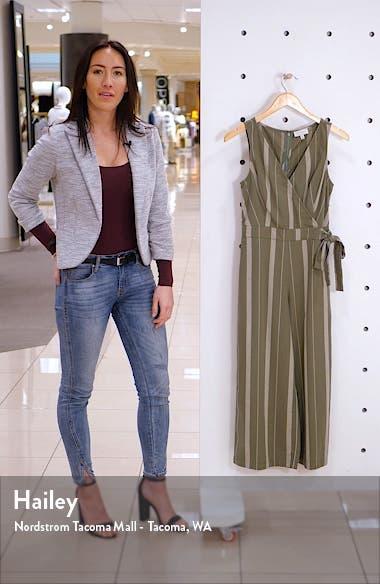 Daisy Stripe Sleeveless Cotton Jumpsuit, sales video thumbnail