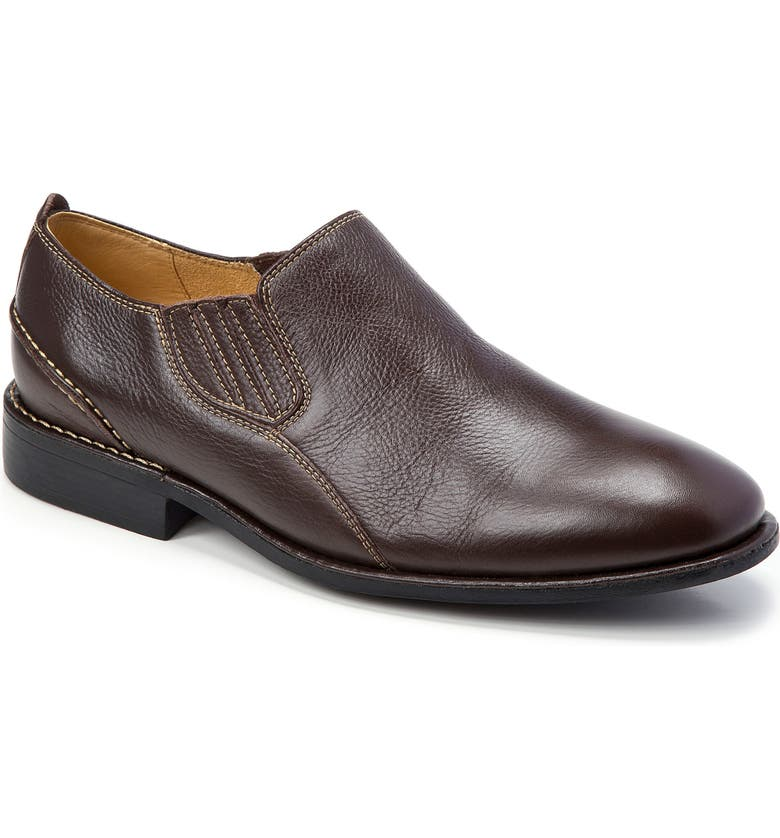 SANDRO MOSCOLONI Lonny Plain Toe Slip-On, Main, color, BROWN