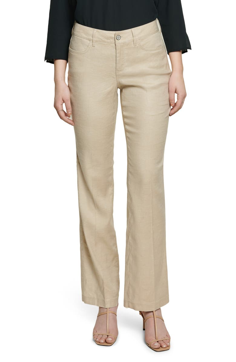 CURVES 360 BY NYDJ Wide Leg Linen Blend Pants, Main, color, STRAW