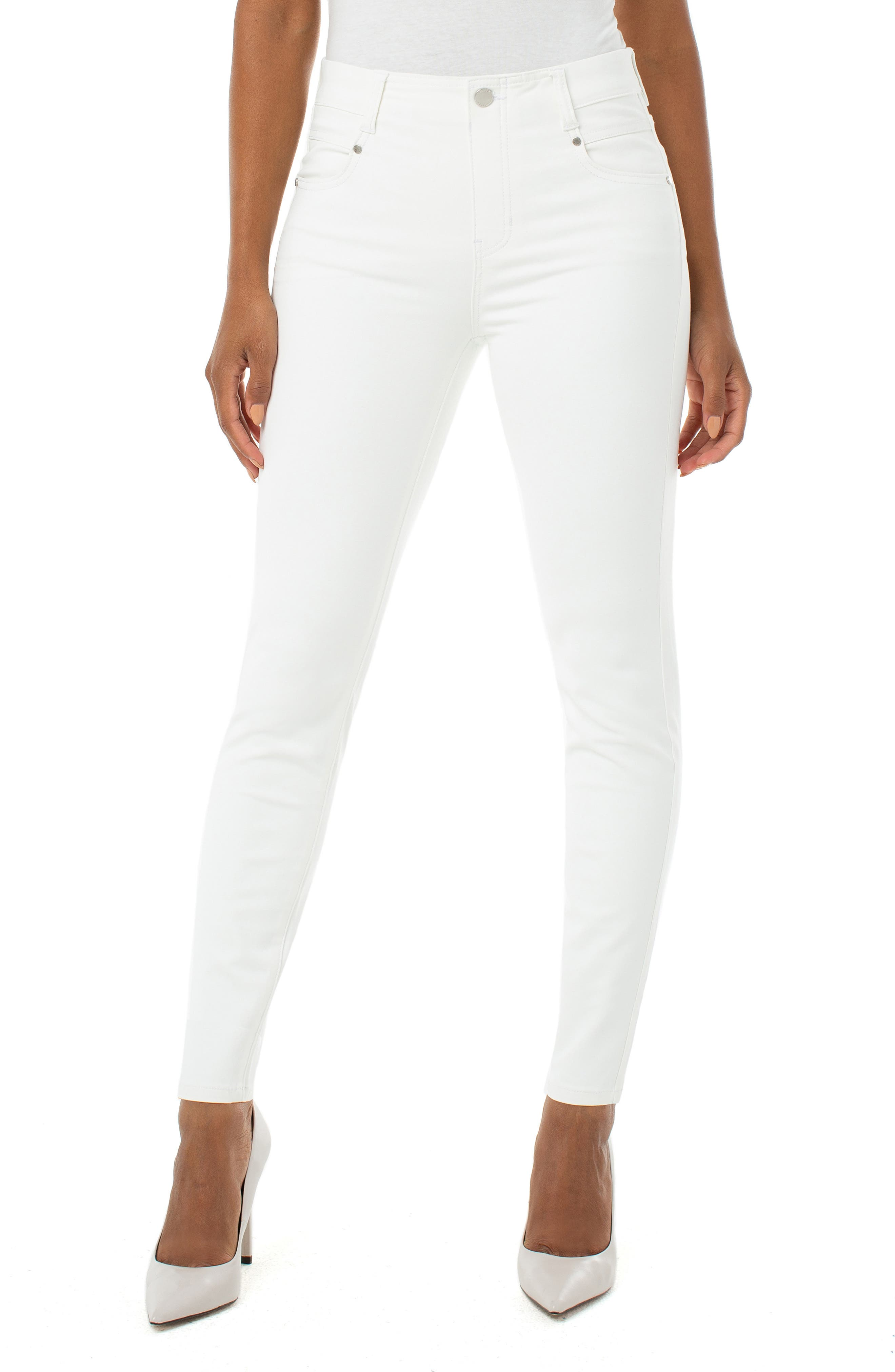 Gia Glider Skinny Pull-On Jeans