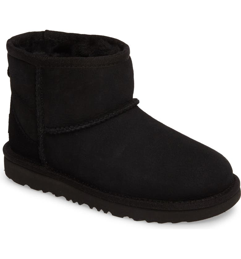 UGG<SUP>®</SUP> Classic Mini II Water-Resistant Genuine Shearling Boot, Main, color, BLACK