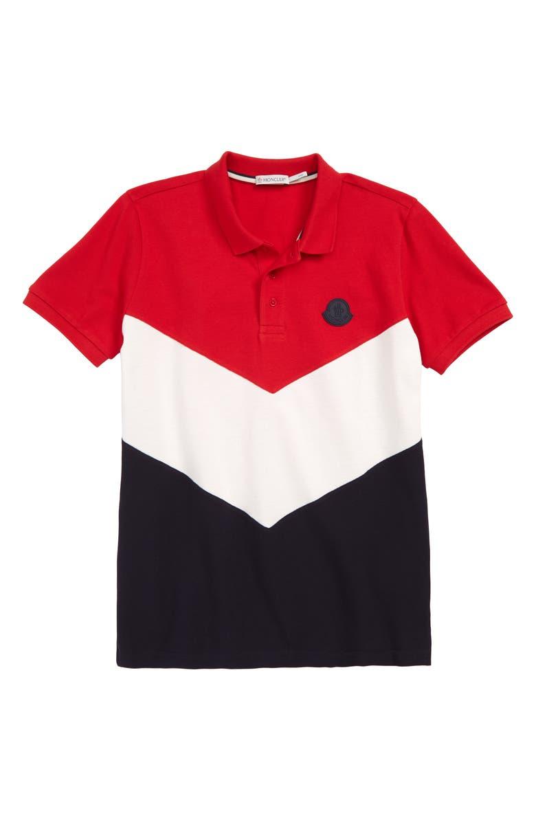 MONCLER Logo Polo, Main, color, 600