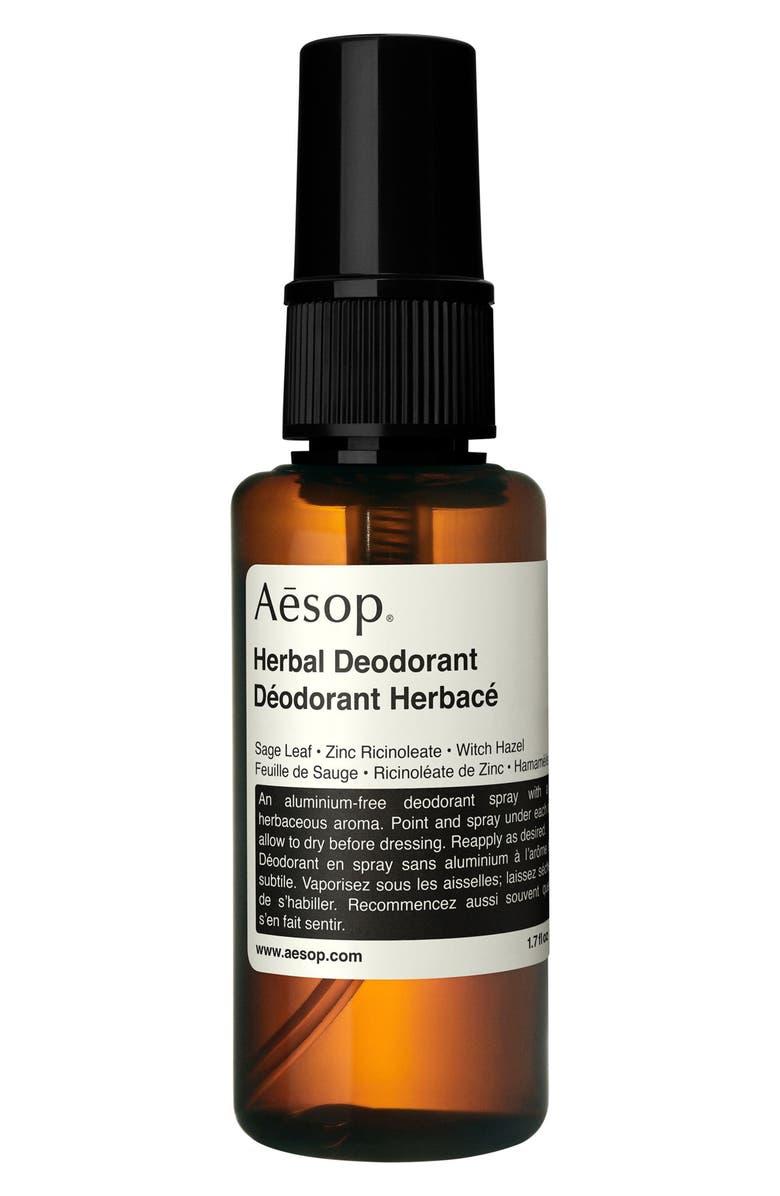 AESOP Herbal Spray Deodorant, Main, color, NO COLOR