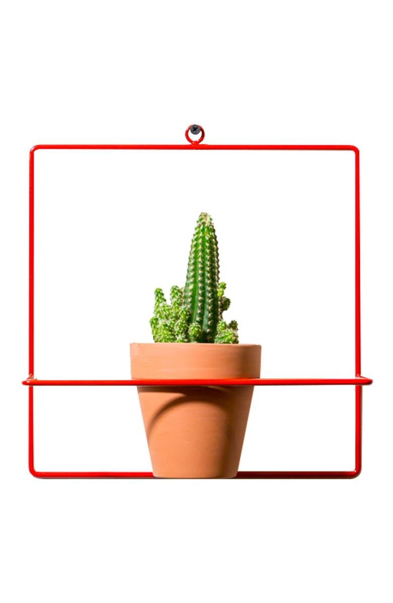 NEWMADE LA Square Wall Mount Planter, Main, color, RED