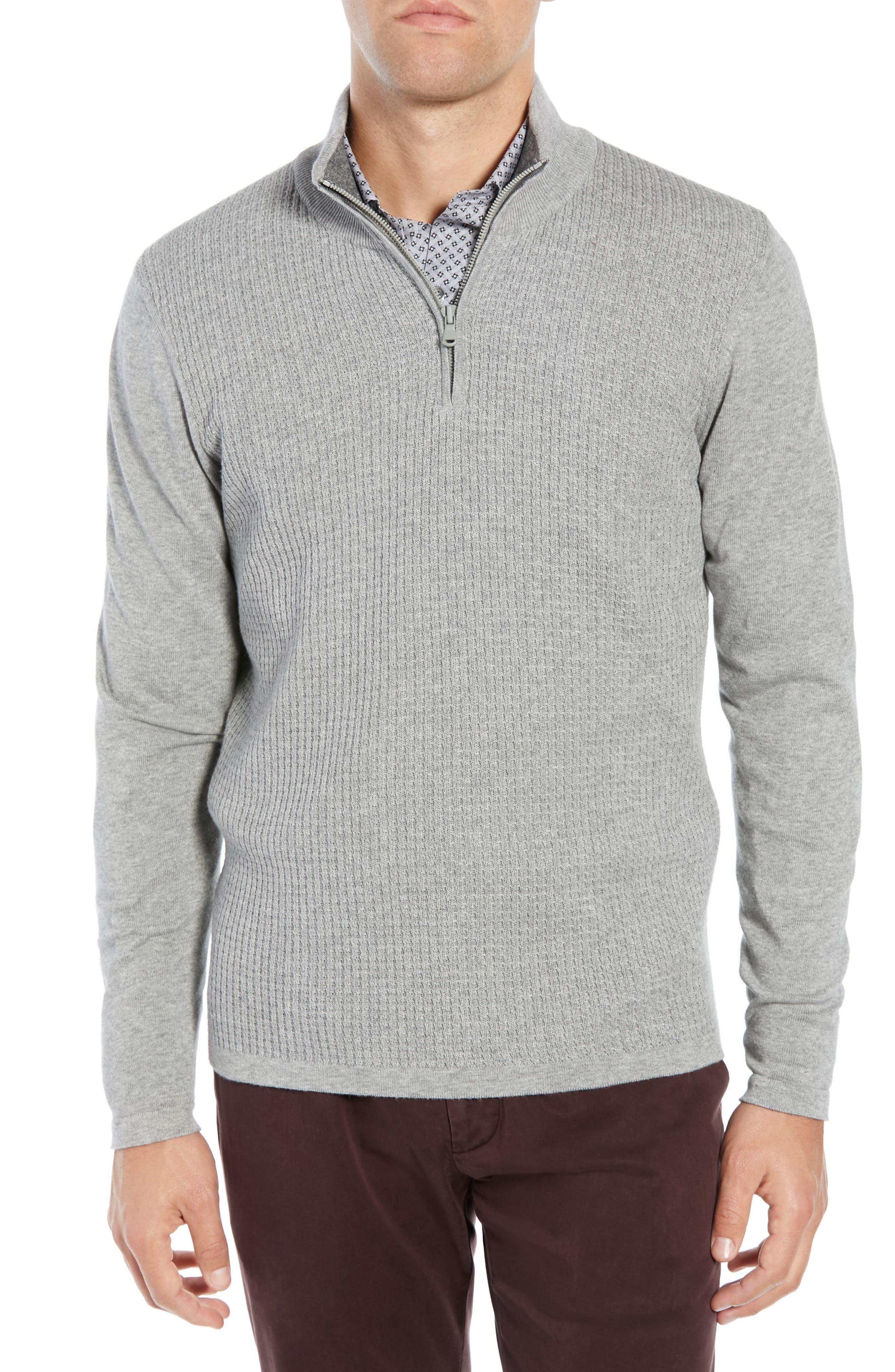 Higgins Quarter Zip Sweater, Main, color, 020