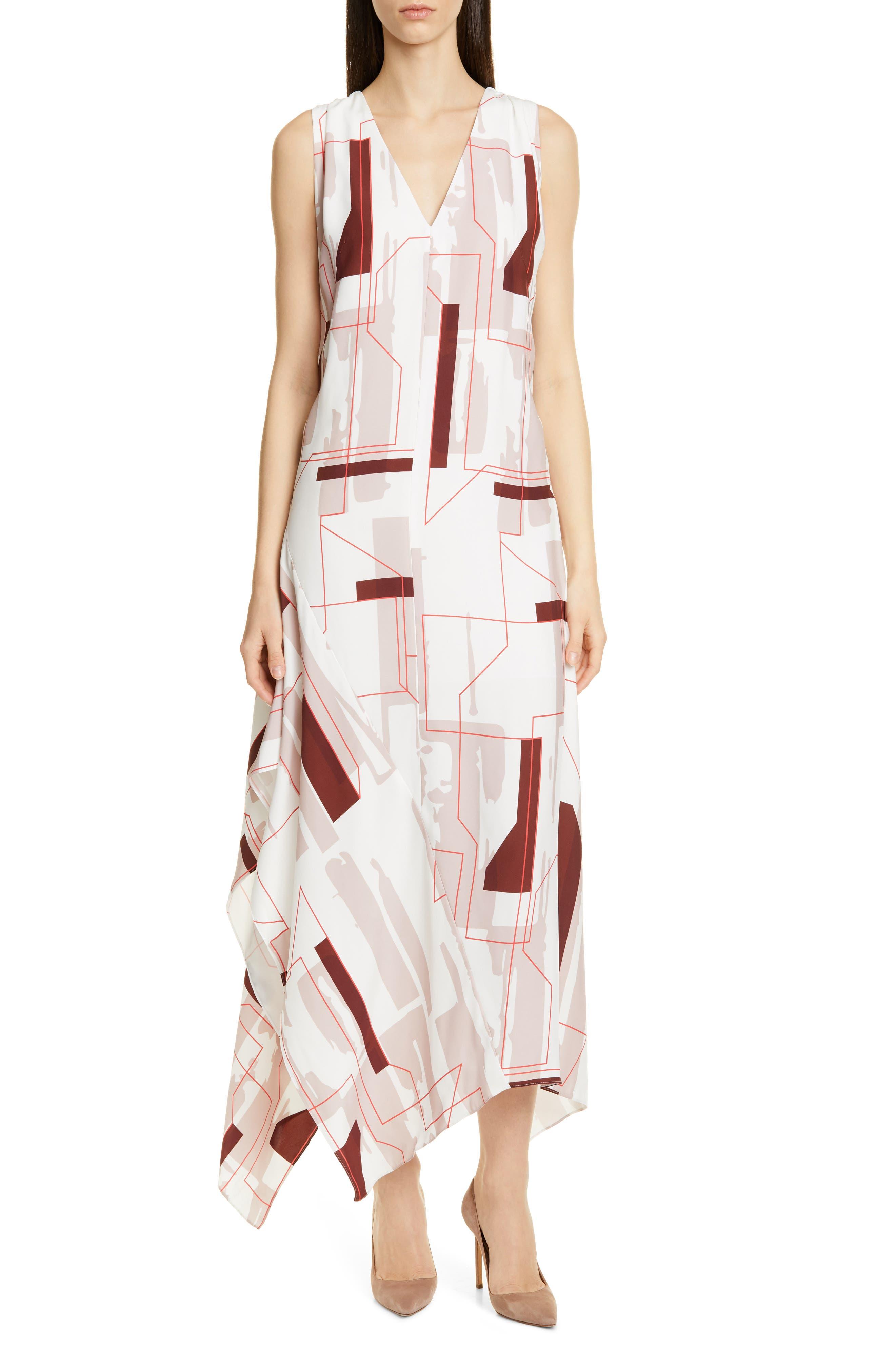 Boss Dimapy Print Dress, White