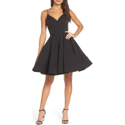 MAC Duggal Fit & Flare Party Dress, Black