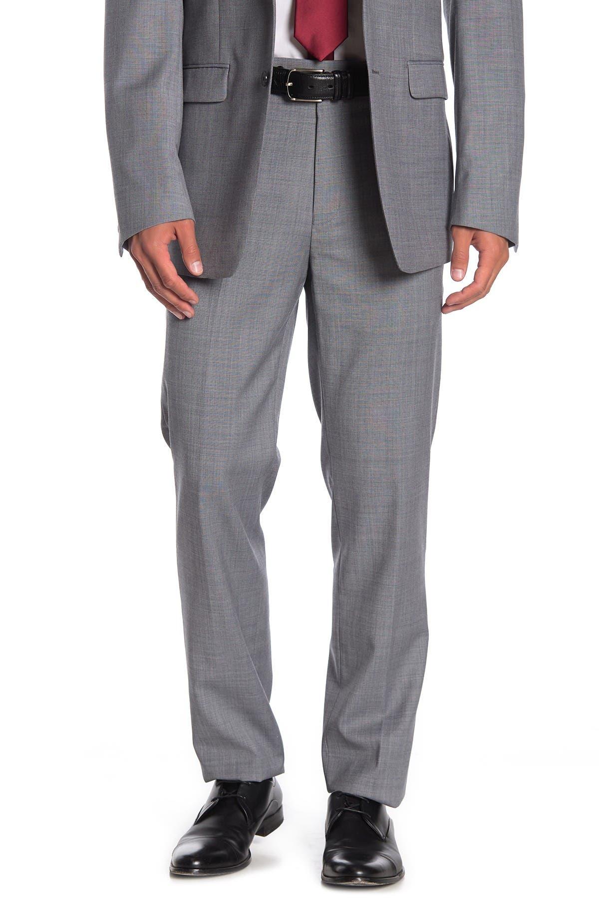 """Image of Calvin Klein Solid Medium Grey Suit Separates Pants - 30-34"""" Inseam"""