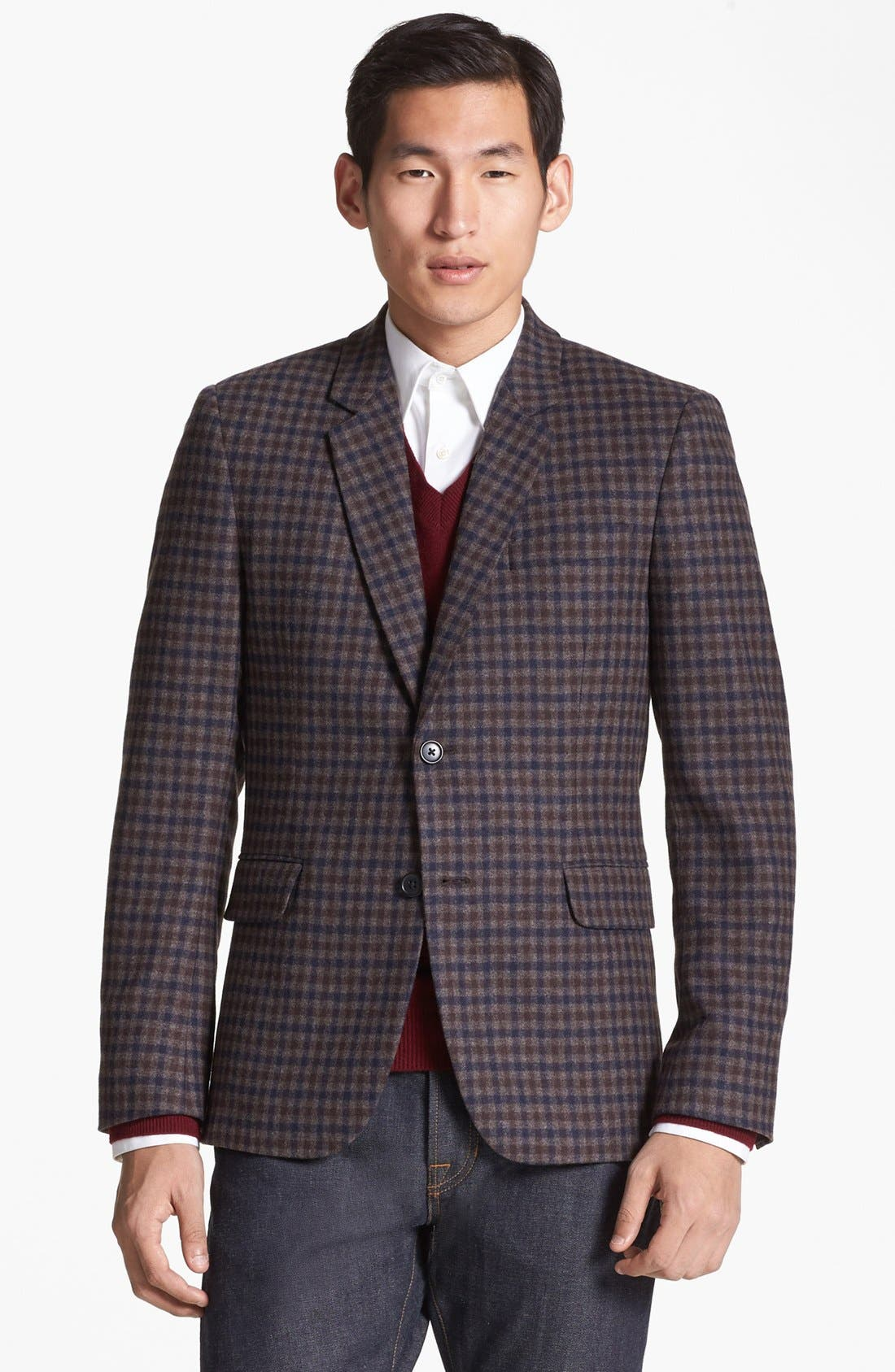Wool Blend Blazer, Main, color, 201