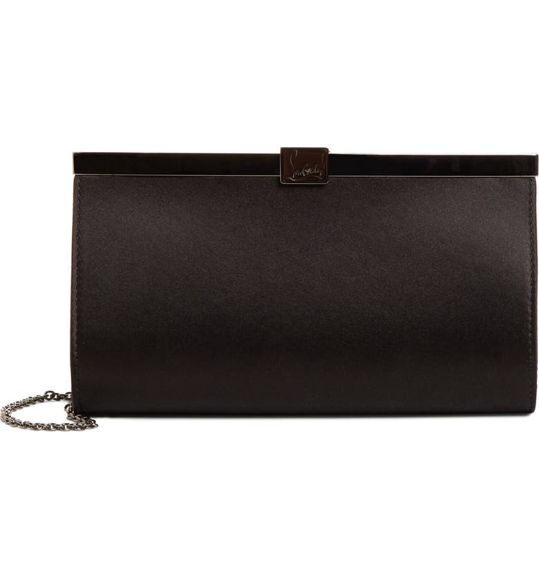 CHRISTIAN LOUBOUTIN Small Palmette Clutch, Main, color, 001
