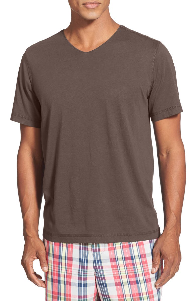 DANIEL BUCHLER V-Neck Peruvian Pima Cotton T-Shirt, Main, color, 204
