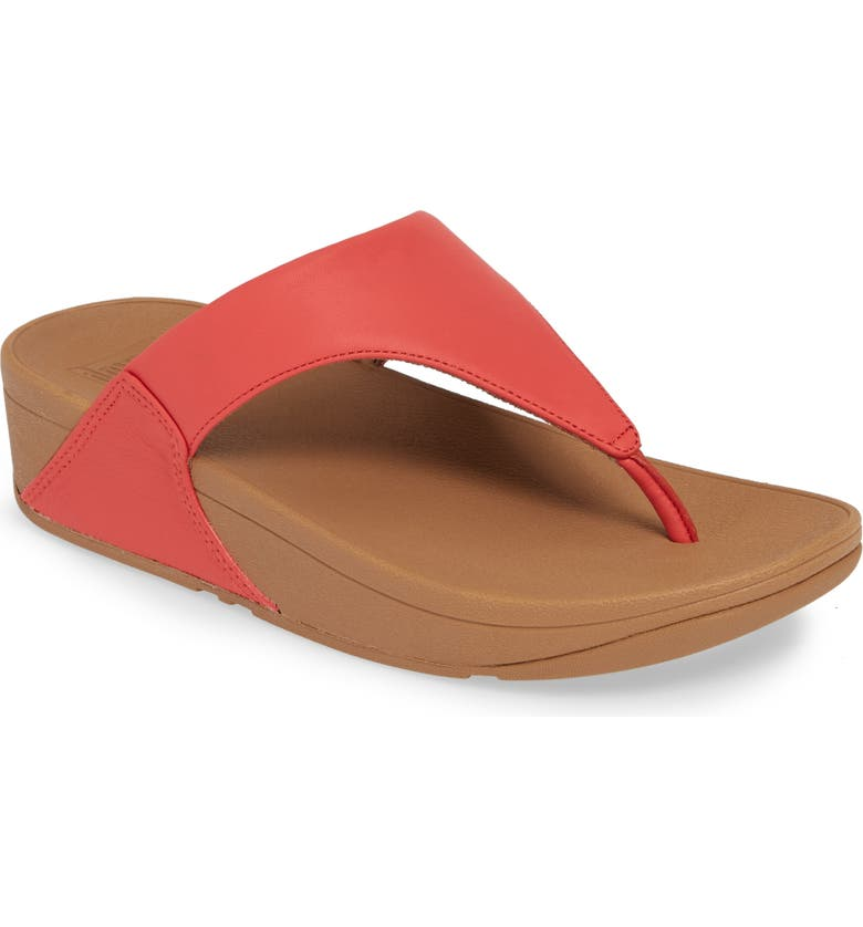 FITFLOP Lulu Flip Flop, Main, color, PASSION RED LEATHER